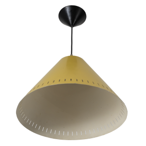 Yellow vintage pendant light by Philips.