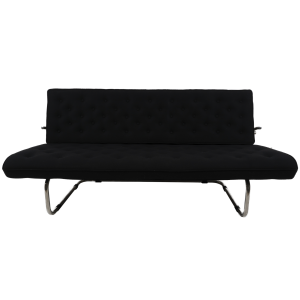 Model F40 black sofa by Marcel Breuer