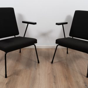 2x Model 1407 lounge chair by Wim Rietveld and A.R. Cordemeyer