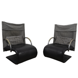 2x Zen chair by Claude Brisson