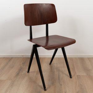 5x Model S16 Industrial chair by Galvanitas (Brown - Black)