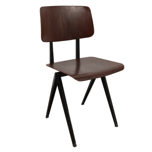 5x Model S16 Industrial chair by Galvanitas (Brown - Black)