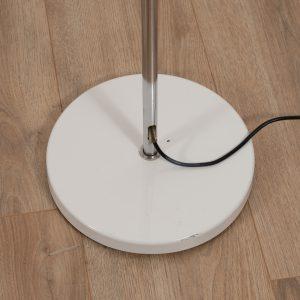 Chromed arced floor light by Gepo Amsterdam