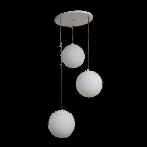 3x Glass globe 3-Light