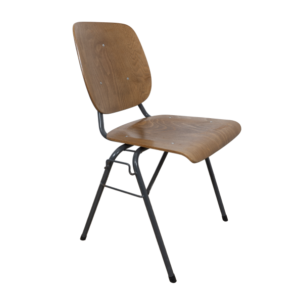 27x Stackable industrial chair with armrests by Kho Liang Ie