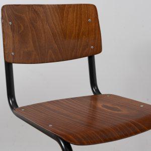 100x Industrial chair tubular frame (Grey - Brown)