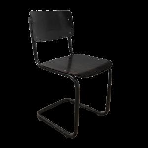 16x Industrial chair tubular frame (Black - Black)