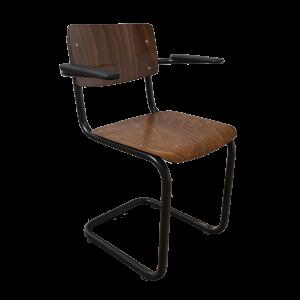 8x Industrial chair tubular frame with armrests
