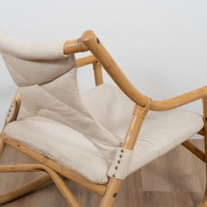 Vintage bamboo easy chair