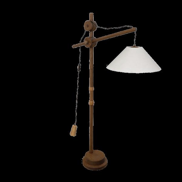 Vintage wooden floor lamp