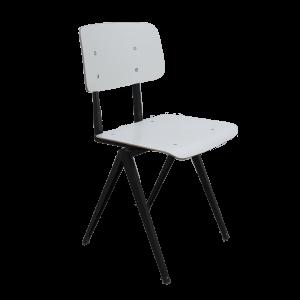 2x Model S16 Industrial chair by Galvanitas (White / Black)
