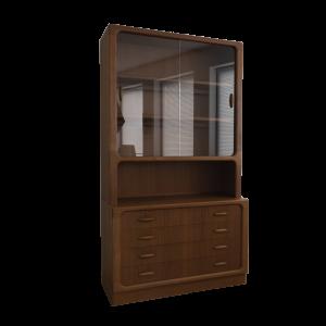 Glass Panel Cabinet by Dyrlund