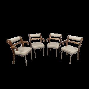 Set of 4 Job Chair by Heinz Julen