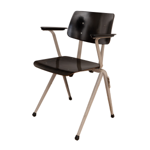 15x s17 Industrial chair with armrests by Galvanitas